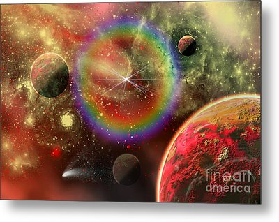 Artists Concept Illustrating The Cosmic Metal Print