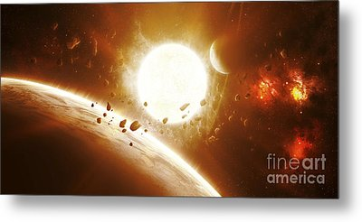 Artists Concept Of 51 Pegasi Metal Print by Kevin Lafin