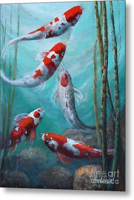 Artist's Pond Fish Metal Print by Gail Salitui
