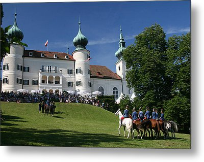 Metal Print featuring the photograph Artstetten Castle In June by Travel Pics