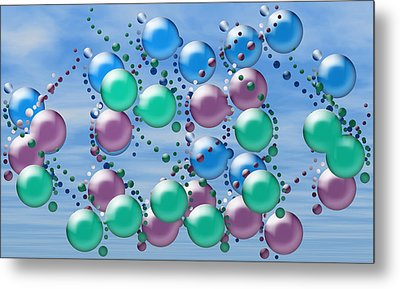 Artwork 107 Metal Print by Evelyn Patrick