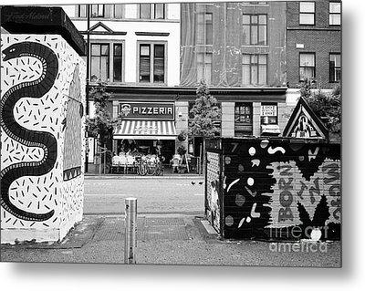 artwork in stephenson square Northern quarter Manchester uk Metal Print by Joe Fox