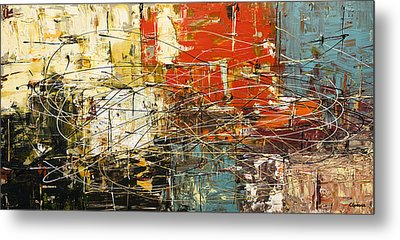 Metal Print featuring the painting Artylicious by Carmen Guedez
