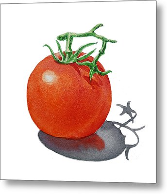 Artz Vitamins Tomato Metal Print