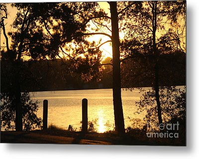 As Another Day Closes Metal Print by Kathy  White