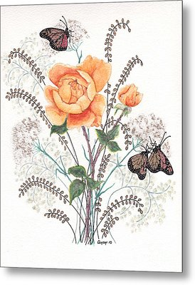 As I Ride The Butterfly Metal Print by Stanza Widen