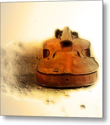 As Sound Fossils  Metal Print by Steven Digman