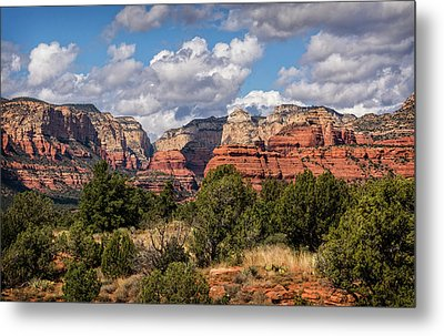 Metal Print featuring the photograph As The Clouds Pass On By In Sedona  by Saija Lehtonen