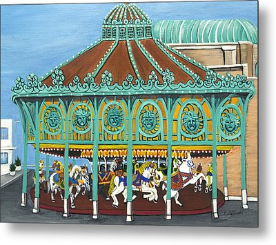 Asbury Park Carousel House IIi Metal Print by Norma Tolliver