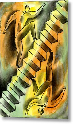Ascending And Descending Metal Print by Leon Zernitsky