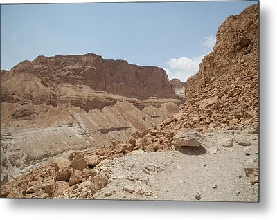 Ascension To Masada - Judean Desert, Israel Metal Print by Yoel Koskas