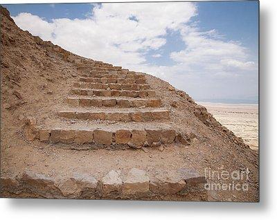 Metal Print featuring the photograph Stairway To Heaven - Masada, Judean Desert, Israel by Yoel Koskas