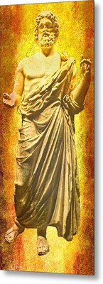 Metal Print featuring the photograph Asclepius Descending by Nigel Fletcher-Jones