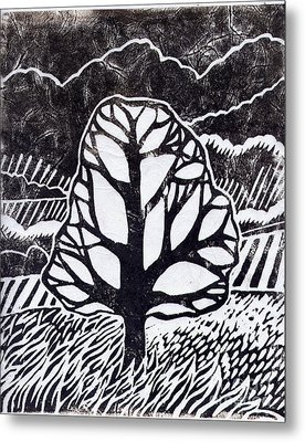 Ash Tree Metal Print by Becca Thorne