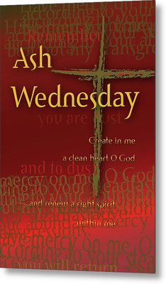 Metal Print featuring the digital art Ash Wednesday by Chuck Mountain