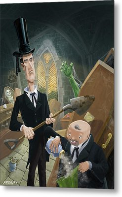 Metal Print featuring the digital art Ashes Fun In The Funeral Crypt by Martin Davey