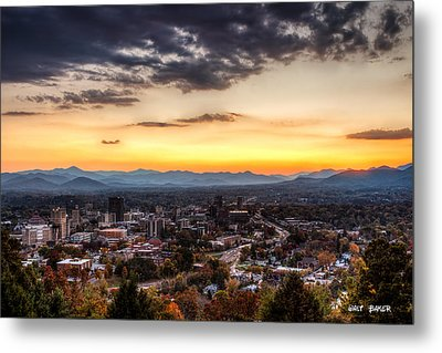 Asheville From Above Metal Print