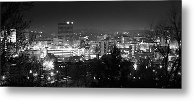 Asheville North Carolina Skyline Metal Print