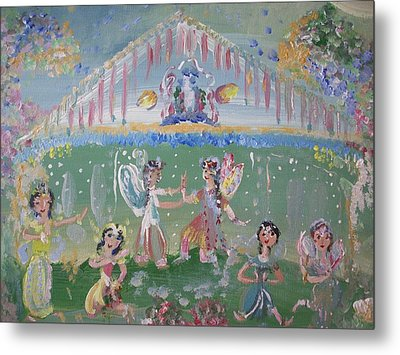 Metal Print featuring the painting Asian Party Fairies by Judith Desrosiers