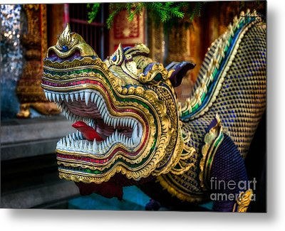 Asian Temple Dragon Metal Print by Adrian Evans