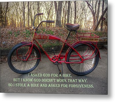 Asked For A Bike Metal Print by William Fields