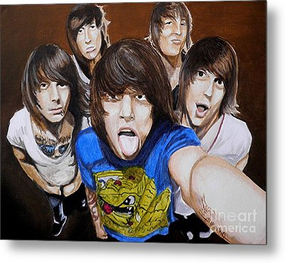 Asking Alexandria Metal Print
