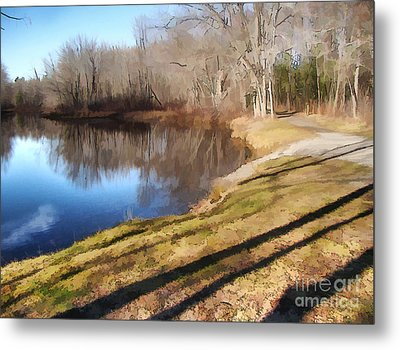 Metal Print featuring the photograph Aslant by Betsy Zimmerli