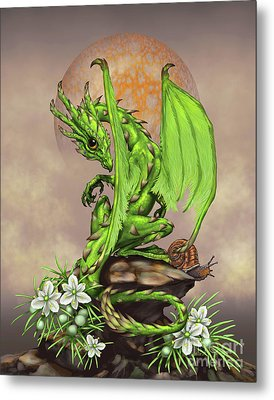 Asparagus Dragon Metal Print