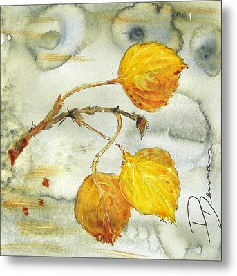 Aspen Leaves Metal Print by Dawn Derman