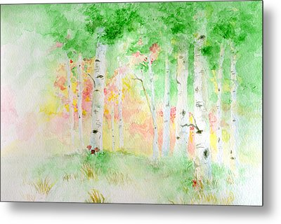 Aspens Metal Print by Andrew Gillette