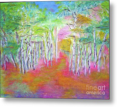 Aspens In Spring Metal Print by Barbara Anna Knauf