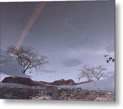 Asphalt Reflection I Metal Print by Anna Villarreal Garbis