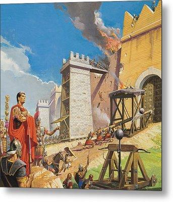 Assault On Carthage Metal Print by Severino Baraldi