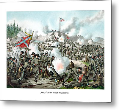 Assault On Fort Sanders Metal Print by War Is Hell Store