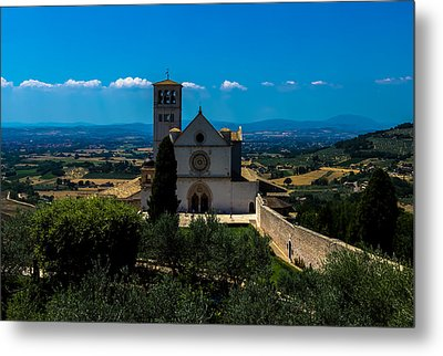 Assisi-basilica Di San Francesco Metal Print