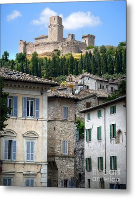 Assisi Italy - Rocca Maggiore - 02 Metal Print by Gregory Dyer