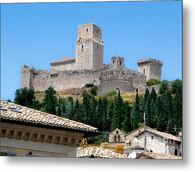Assisi Italy - Rocca Maggiore Metal Print by Gregory Dyer