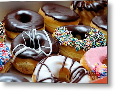 Assorted Doughnuts Close-up Picture Metal Print
