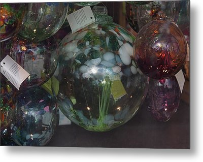 Assorted Witching Balls Metal Print by Suzanne Gaff