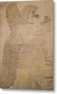 Assyrian Guardian Metal Print