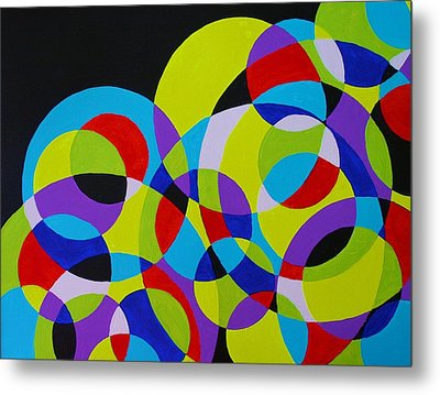 Metal Print featuring the painting Astral by Polly Castor