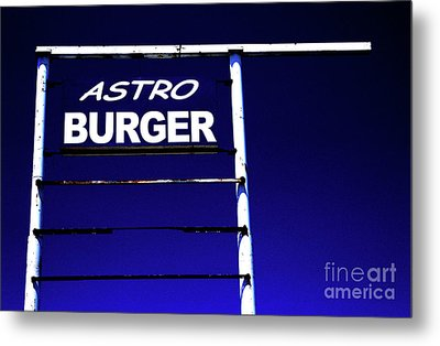 Metal Print featuring the photograph Astro Burger by Jim and Emily Bush