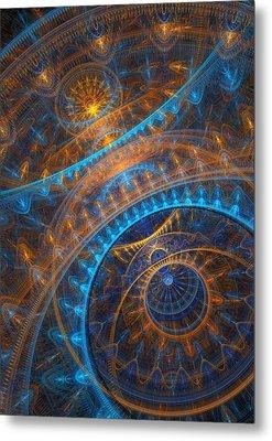 Astronomical Clock Metal Print by Martin Capek