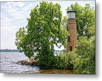 Asylum Point Lighthouse 1 Metal Print by Trey Foerster