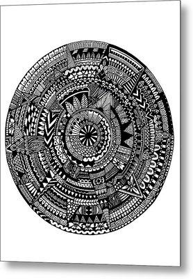 Asymmetry Metal Print by Elizabeth Davis