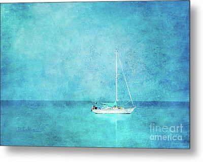 Metal Print featuring the mixed media At Anchor by Betty LaRue