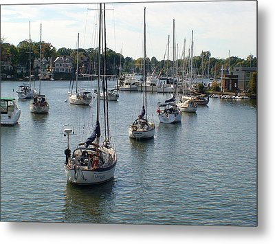 At Anchor Metal Print by Charles Kraus
