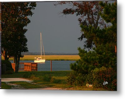 Metal Print featuring the photograph At Anchor by Phil Mancuso