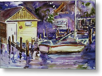 At Boat House 3 Metal Print by Xueling Zou