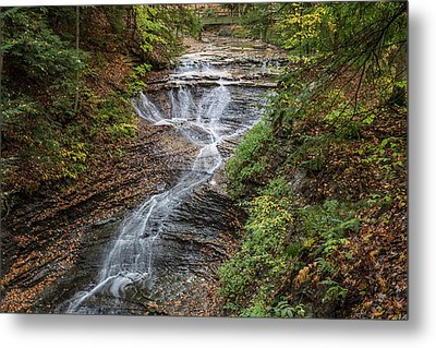 Metal Print featuring the photograph At Bridal Veil Falls by Dale Kincaid